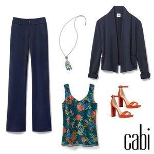 CAbi Easy Topper #5153 Navy Cardigan sz XL